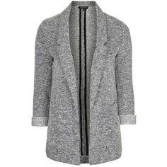 TopShop Jersey Boyfriend Blazer ($75) ❤ liked on Polyvore featuring outerwear, jackets, blazers, jersey blazer, boyfriend blazer, boyfriend jacket, blazer jacket and blazers jersey