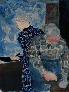 Edouard Vuillard - Deux Femmes dans Interieur Sending art that you know a love one will appreciate is a great creative card idea. Pierre Bonnard, Edouard Vuillard, Figure Painting, Painting & Drawing, Monet, Modern Art, Contemporary Art, Figurative Kunst, Illustration Art