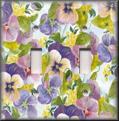 Switch Plate Cover - Spring Pansy Flowers - Floral Home Decor - Pansies #LunaGallerySwitchPlates