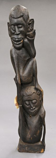 Africa | Sculpture from the Makonde people of Tanzania | Wood