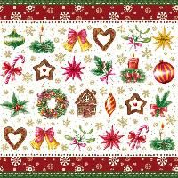 2092 GR Servilleta decorada Navidad