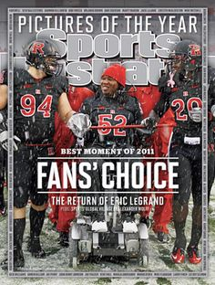 The return of Rutgers football player Eric LeGrand — one year after he was paralyzed from the neck down in a game vs. Army at Giants Stadium — is Sports Illustrated's 2011 Moment of the Year. Dave Duerson, Mike Mitchell, Giants Stadium, Sports Illustrated Covers, Lionel Messi, Football Players, Football Field, College Football, In This Moment