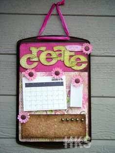 Cookie Sheet Transforms Into Bulletin Board