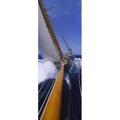 Yacht Mast Caribbean Canvas Art - Panoramic Images (36 x 13)