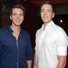 """James and Oliver Phelps as Fred and George Weasley 