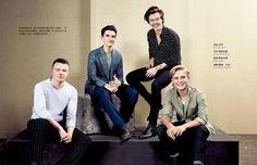 "theharrydaily: ""Harry, Tom Glynn-Carney, Fionn Whitehead, and Jack Lowden photographed by Francesco Zizola. """