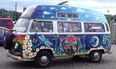 mushrooms, faeries, dragonfly van