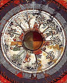 Hildegard von Bingen (Saint) circa 1098 - beautiful mandela of the four seasons.