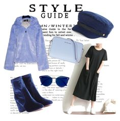 """I'm dreaming of a blue Christmas"" by xx-adda on Polyvore featuring Aquazzura, Puma, Apt. 9, Michael Kors, RetroSuperFuture, Winter, Blue, jacket, polyvorecontest and fentybeauty"