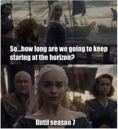 Game of Thrones funny meme<<You think he's not in the shot because he's short, but really, he's already gone to get more wine.