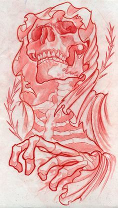 Reap it by BrentSmith-aloadofBS on DeviantArt Tattoo Design Drawings, Skull Tattoo Design, Skull Design, Tattoo Sketches, Tattoo Designs, Evil Skull Tattoo, Skull Tattoos, Body Art Tattoos, Totenkopf Tattoos