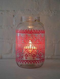 64 oz. Mason Jar Lantern (free people)  Tealight candle holder.