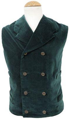 CT035 Velvet Double Breasted Vest