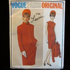 VPO 1749 Lanvin Elegant Classic Dress & Jacket Sz16/36/28/38 Slim dress has bias yoke,front & inset band below waist.Semi-fitted jacket has bias standing collar & hem binding.Full length sleeves.Fabrics:Ltwt Wool,Gabardine, Linen,DoubleKnits.uncut new sld 19.99+fr 8/19/16