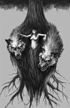 There's someone in the wolf Wolf Love, Bad Wolf, Neue Tattoos, Body Art Tattoos, Der Steppenwolf, Tattoo Painting, Werewolf Art, Werewolf Tattoo, Wolf Stuff