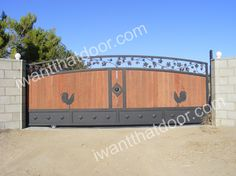 Universal Iron Doors provides custom made wrought iron gates, iron fences, metal driveway gates and more that can make your home feel secure. Side Gates, Front Gates, Entrance Gates, Front Doors, Wrought Iron Driveway Gates, Gates Driveway, Wood Gates, Gate Wall Design, House Gate Design