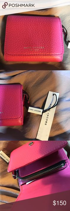 Pink Leather French Purse Wallet by Marc Jacobs New w Tags Marc Jacobs Bags Wallets