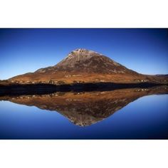 Mount Errigal Lough Nacung Dunlewy County Donegal Ireland Mountain Reflected In Lake Canvas Art - Gareth McCormack Design Pics (18 x 12)