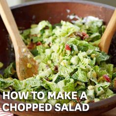 Classic Chopped Salad - BH&G What's the secret to the best chopped salad? Getting all those wonderfully crisp and colorful fresh vegetables coated with just the right amount of dressing. This simple salad recipe shows you exactly how it's done. Easy Salad Recipes, Easy Salads, Healthy Salads, Summer Salads, Healthy Eating, Healthy Recipes, Basic Salad Recipe, Kale Recipes, Avocado Recipes