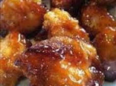 Sweet Hawaiian Crockpot Chicken 2lb. Chicken tenderloin chunks 1 cup pineapple juice 1/2 cup brown sugar 1/3 cup soy sauce  Combine all together, cook on low in Crock-pot 6-8 hours...that's it! Done! Serve with brown rice and you have a complete, easy meal!!