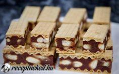 Csokis, kekszes, diós ostya szelet recept fotóval