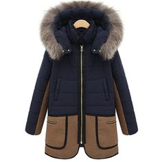 Women's Casual Fashion Mid-Length Thick Fur Collar Quilted Winter Coat S-2XL-Loluxe