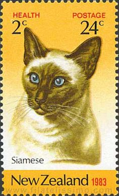 ♥ A Siamese stamp from New Zealand!