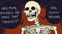 Meme real original skeleton
