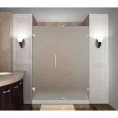 frameless frosted glass shower doors. Nautis 72\ Frameless Frosted Glass Shower Doors