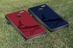 University of South Carolina, Beaufort Sand Sharks Watermark Logo Cornhole Board Set