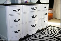 black and white dresser, french style