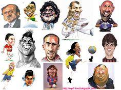 caricature footballeur 2013 -