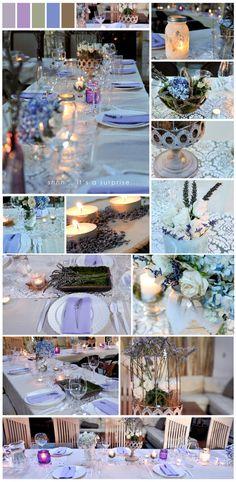 lavendel party deko