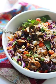 Chopped Spicy Chicken Salad with Peanut Dressing