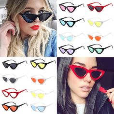 52afd41ee94f Women Small Cat Eye Sunglasses Red Frame Women Brand Designer Ladies Sun Glasses  Retro Sexy Eyewear Shades UV400