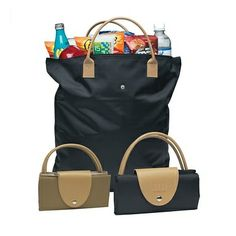 This tote folds small for easy storage!