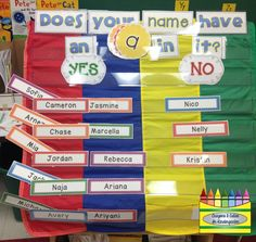It's All In A Name!  Using Children's Names In The Beginning of Kindergarten!
