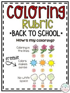 Kindergarten Coloring Rubric