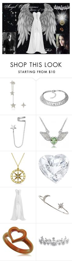 """""""Angel Of Dreams"""" by artheart1996 ❤ liked on Polyvore featuring Elise Dray, Once Upon a Time, Studio Silver, Allurez, Swarovski, Tai, Bling Jewelry, women's clothing, women and female"""