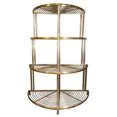 Corner Bakers Rack With Storage Alluring French Iron And Brass Bakers Rack  Bakers Rack Furniture Storage Decorating Inspiration
