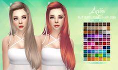 Aveira's Sims 4, Butterflysims Hair 099 - Retexture 70 Colors ...