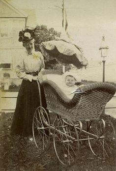 Love the pram!  Prev pinner said: Gladys Wilson in a pram, Newport, RI, 1897