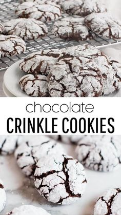 Holiday Cookie Recipes, Easy Cookie Recipes, Holiday Cookies, Holiday Baking, Christmas Baking, Dessert Recipes, Baking Recipes, Chocolate Crackle Cookies, Chocolate Crinkles Recipe Filipino