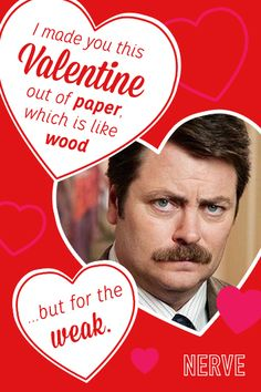 Valentine cards-themed from television shows!! Parks and Rec, Doctor Who, Downton Abbey, Breaking Bad…..