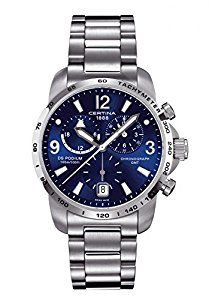 Amazon.com: Certina DS Podium GMT Stainless Steel Mens Quartz Watch C0016391104700: Certina: Watches