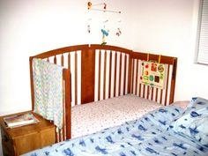 Turn Your Crib into a CoSleeper: I'm going to try this with ours. This was just what I had wanted last time!