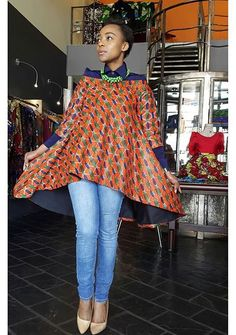 Designer: Fabrosanz That top is cool and so is the pattern and colors. So unique African Print Dresses, African Fashion Dresses, African Dress, African Prints, African Tops, African Women, African Inspired Fashion, African Print Fashion, African Attire