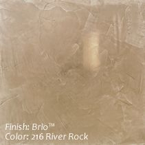 Venetian Plaster, Wall covering Finish/ Brio. 216 Silver Rock. By variance finishes.com