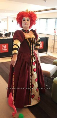 Beautiful Queen of Hearts Plus Size Halloween Costumes