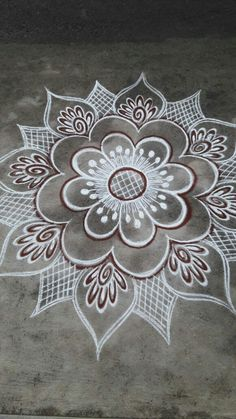 Easy Rangoli Designs Videos, Simple Rangoli Border Designs, Easy Rangoli Designs Diwali, Rangoli Designs Latest, Rangoli Designs Flower, Free Hand Rangoli Design, Rangoli Patterns, Small Rangoli Design, Rangoli Designs With Dots